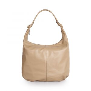 Женская сумкa-хобо через плечо из кожи лесного ореха VIA VERDI. Made in Italy.