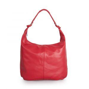 Женская сумкa-хобо через плечо из красной кожи VIA VERDI. Made in Italy.