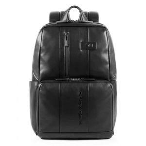 Рюкзак PIQUADRO из черной кожи для ноутбука с диагональю 14 дюймов и чехла для iPad - CA3214UB00 линия Urban